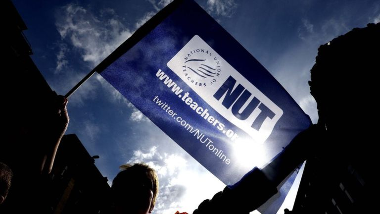 Sixth form college teachers walk out