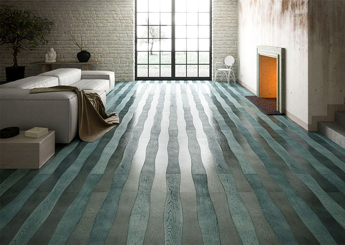 Wave – Sea-Green Wood Flooring by Cora Parquet
