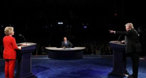 Presidential debate: Trump says he might 'hit Hillary harder'