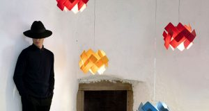 LZF's Handmade Wood Lamps in Set of Creative Images