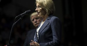 Trump's education pick walked away from a $5.3 million fine. Democrats think she should pay it