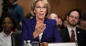 Senate Democrats Can't Rattle Betsy DeVos On Education Issues